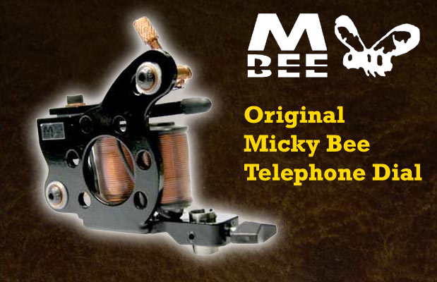 Micky Bee Original Telephone Dial, black frame
