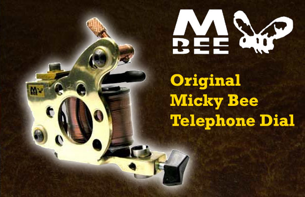 Micky Bee Original Telephone Dial, brass frame