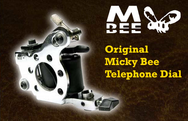 Micky Bee Original Telephone Dial, chrome frame