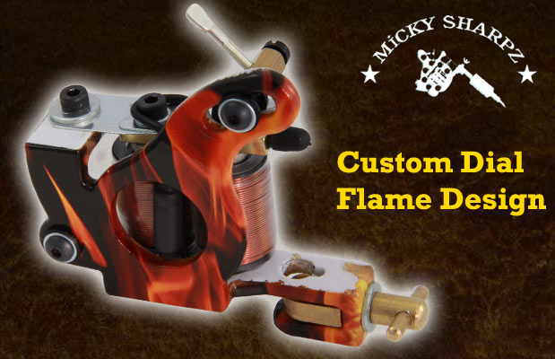 Micky Sharpz Custom Dial Flame Design