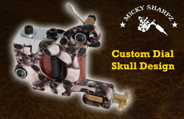 Micky Sharpz Custom Dial Skull Design