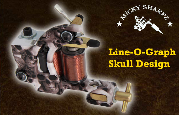 Micky Sharpz Line-O-Graph Skull Design